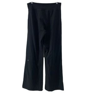 Lululemon Black Wide Leg Sweat Pants Full Length 8